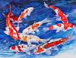 koi ponds watercolor